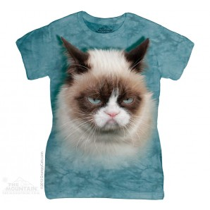臭脸猫 GRUMPY CAT 猫咪图案 Ladies T恤 THE MOUNTAIN 3D女士T恤