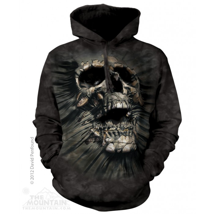 爆裂头骨 Breakthrough Skull Hoodie 骷髅图案卫衣 THE MOUNTAIN 3D卫衣